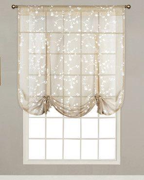 Savannah Sheer Linen Tie Up Shade Tie Up Curtains Tie Up Shades