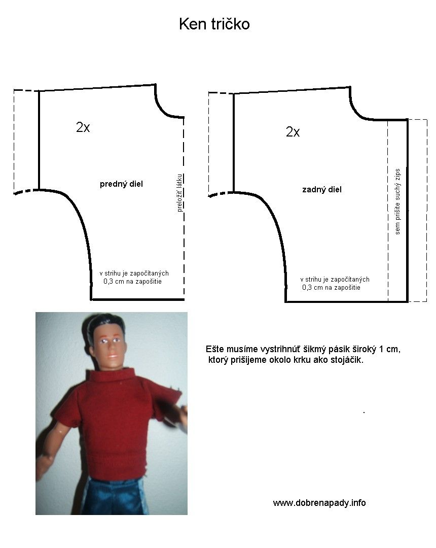 This is a picture of Légend Ken Doll Patterns