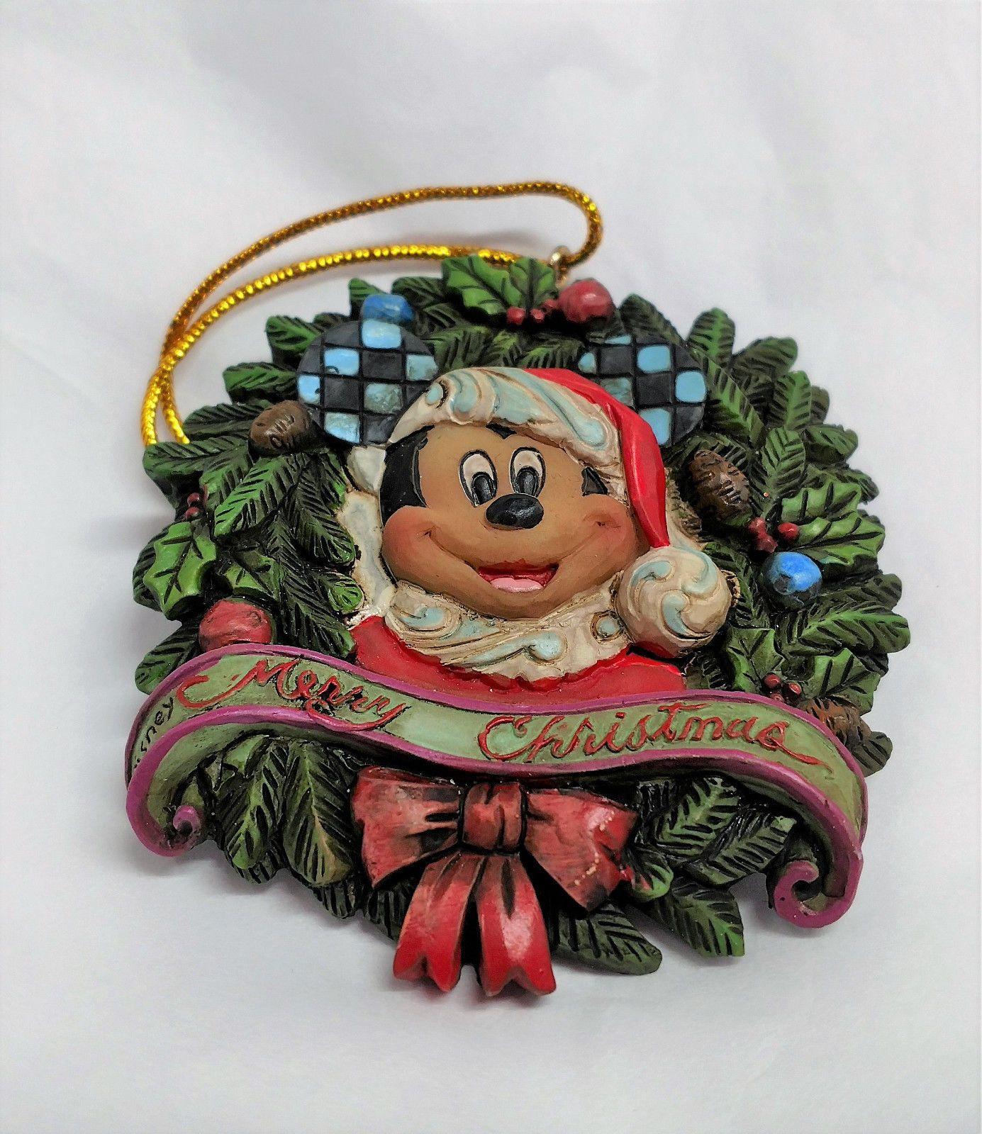 Jim Shore DISNEY Christmas Wreath Mickey Mouse Ornament https://t.co/XqSFF9gkpk #Mickey