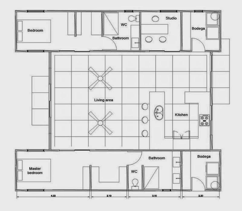 Casas contenedores casa hecha con contenedores y bamb en costa rica lugares para vivir - Contenedores para vivir y precios ...
