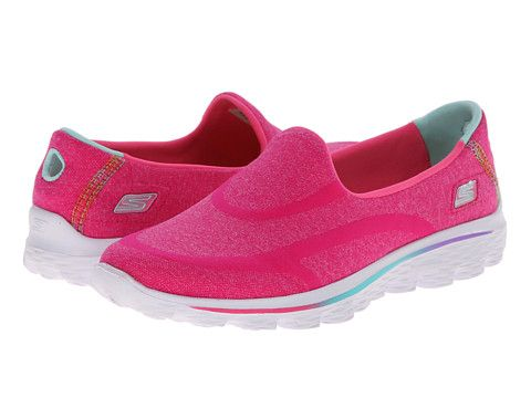 SKECHERS Performance Go Walk 2 Supersock Hot Pink Zappos