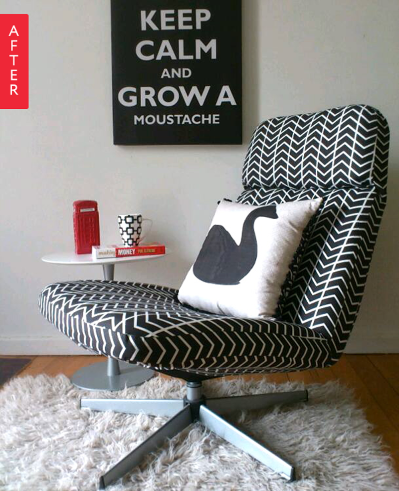 Ikea Lunna Draaistoel.Before After A 20 Ikea Chair Gets A Terrific Two Day Makeover