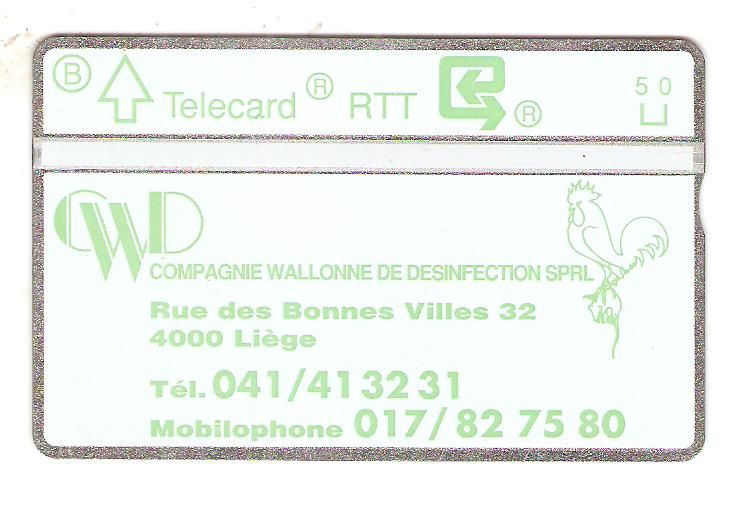 P76. Compagnie Wallonne de Desinfection. Co:102H.