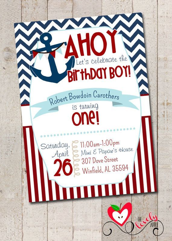 Image result for free save the date nautical birthday Evans 1st - free first birthday invitation template