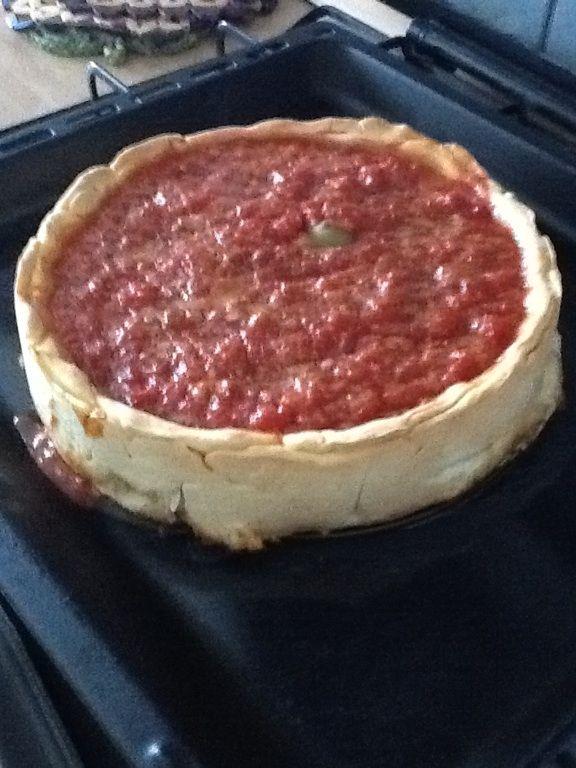 My pizza Chicago-style fatta a casa mia!