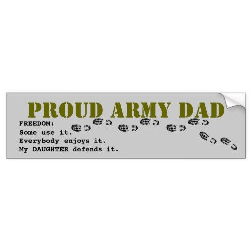 Proud Army Dad Bumper Sticker