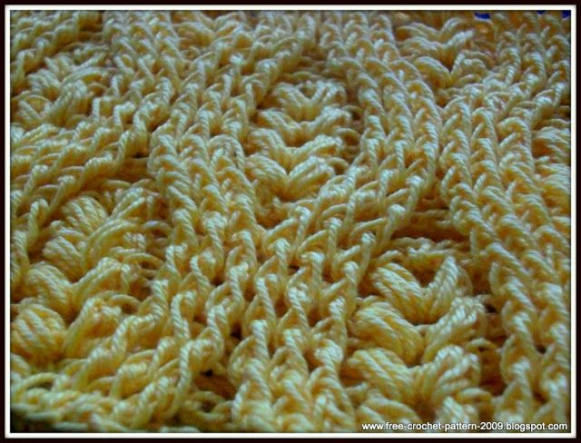 Free Crochet Pattern How To Crochet Front Post Double Crochet Fpdc