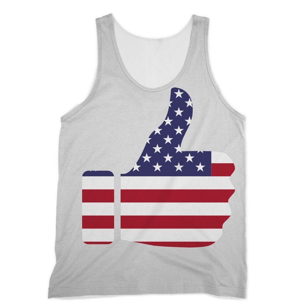 United States Flag Painted Sublimation Vest