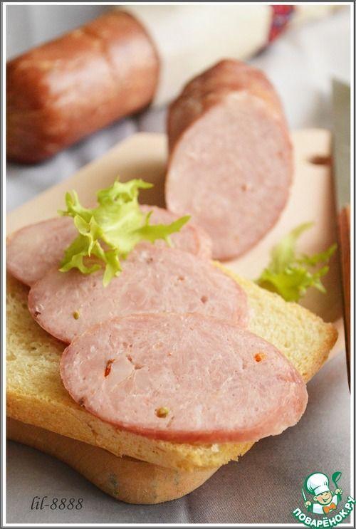 Колбаса домашняя свиная с курицей - кулинарный рецепт
