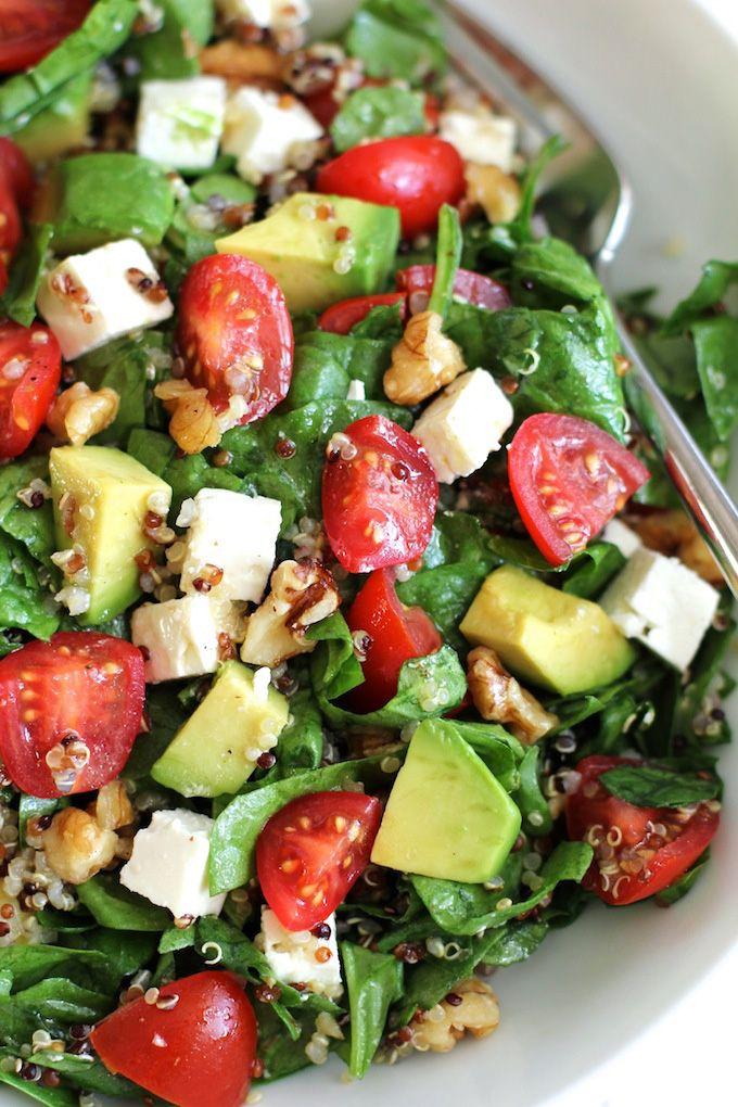 Quinoa Salad with Avocado, Cherry Tomatoes and Feta ...