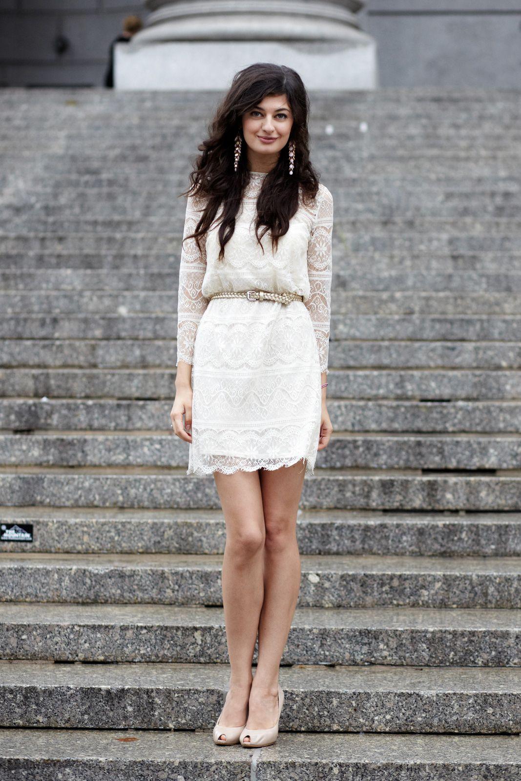 simple wedding dress for civil ceremony