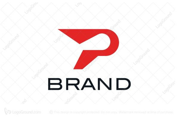 logo for sale athletic letter p logo unique letter p logo with rh pinterest com Clothing and Apparel Logos Sports Clothing Logos