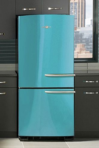 The Ge Artistry Refrigerator In Cupcake Blue