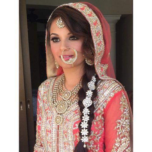 Dulhan Braid Hair Style Indian Bridal Hairstyles Pinterest