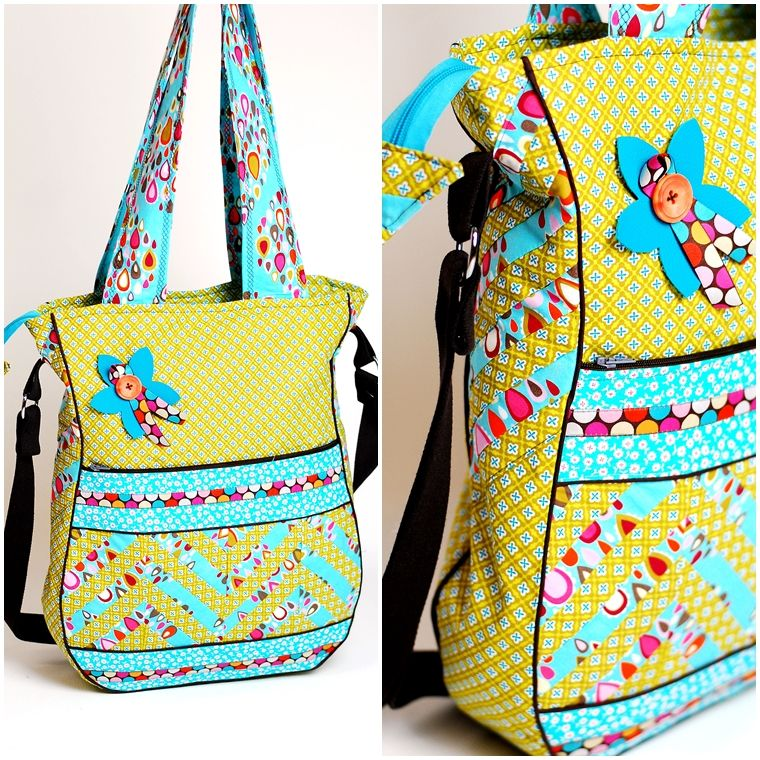 lillesol pelle Schnittmuster/ pattern: Chevron | Bags, Pouches ...