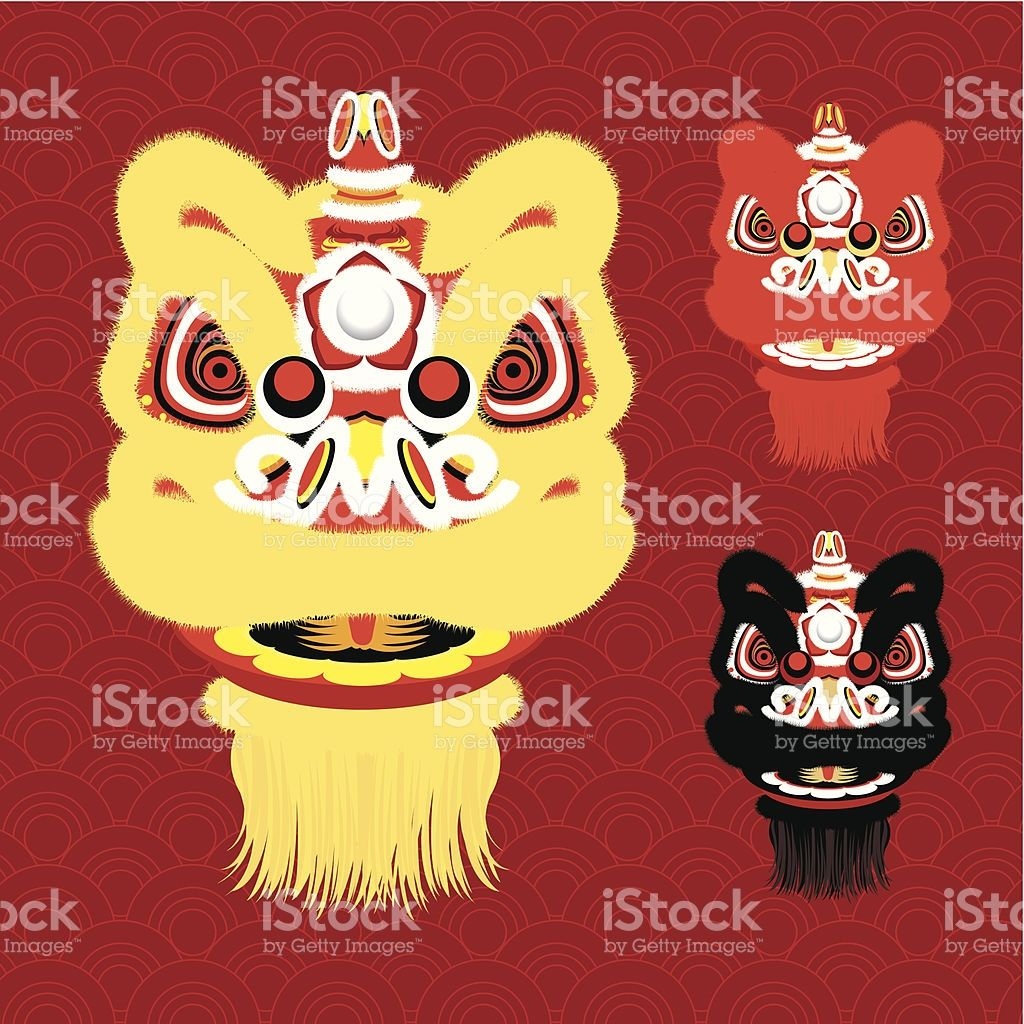 Vector illustration of 3 different Chinese New Year Lion