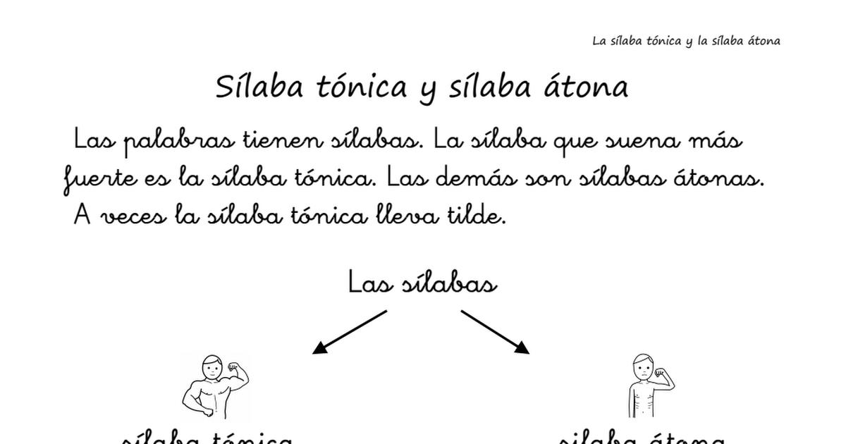 Silaba Tonica Y Atona Pdf Silabas Tonica Silabas Silabas Tonicas Y Atonas
