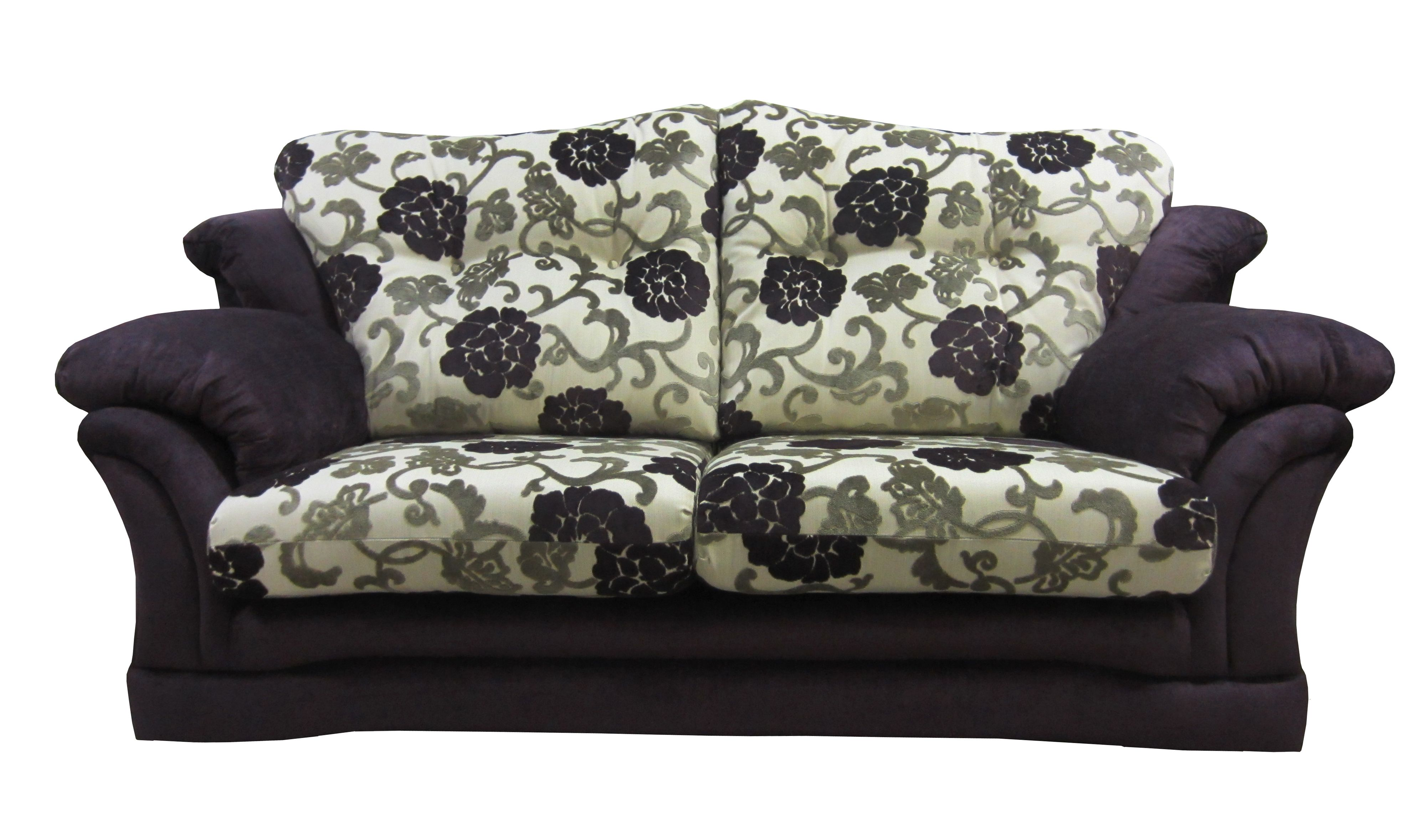 Milan 3 Seater Sofa Done In A Mixture Of A Floral And Plain Fabrics This Sofa Comes In A 2 Seater Or A 4 Seater Snuggle Chairs Matching Chairs 3 Seater Sofa