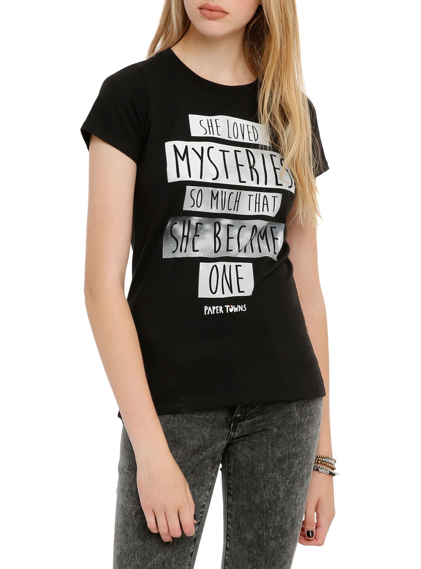 Black t shirts with quotes - Paper Towns Mysteries Girls T Shirt Hot Topic
