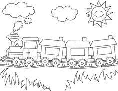 Ausmalbilder Eisenbahn Ausmalbilder Für Kinder رسومات بسيطة