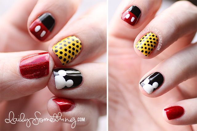 Daily Something - There's always something on my nails · Mickey Mouse Nail  ArtDisney ... - Daily Something - There's Always Something On My Nails Mani / Pedi
