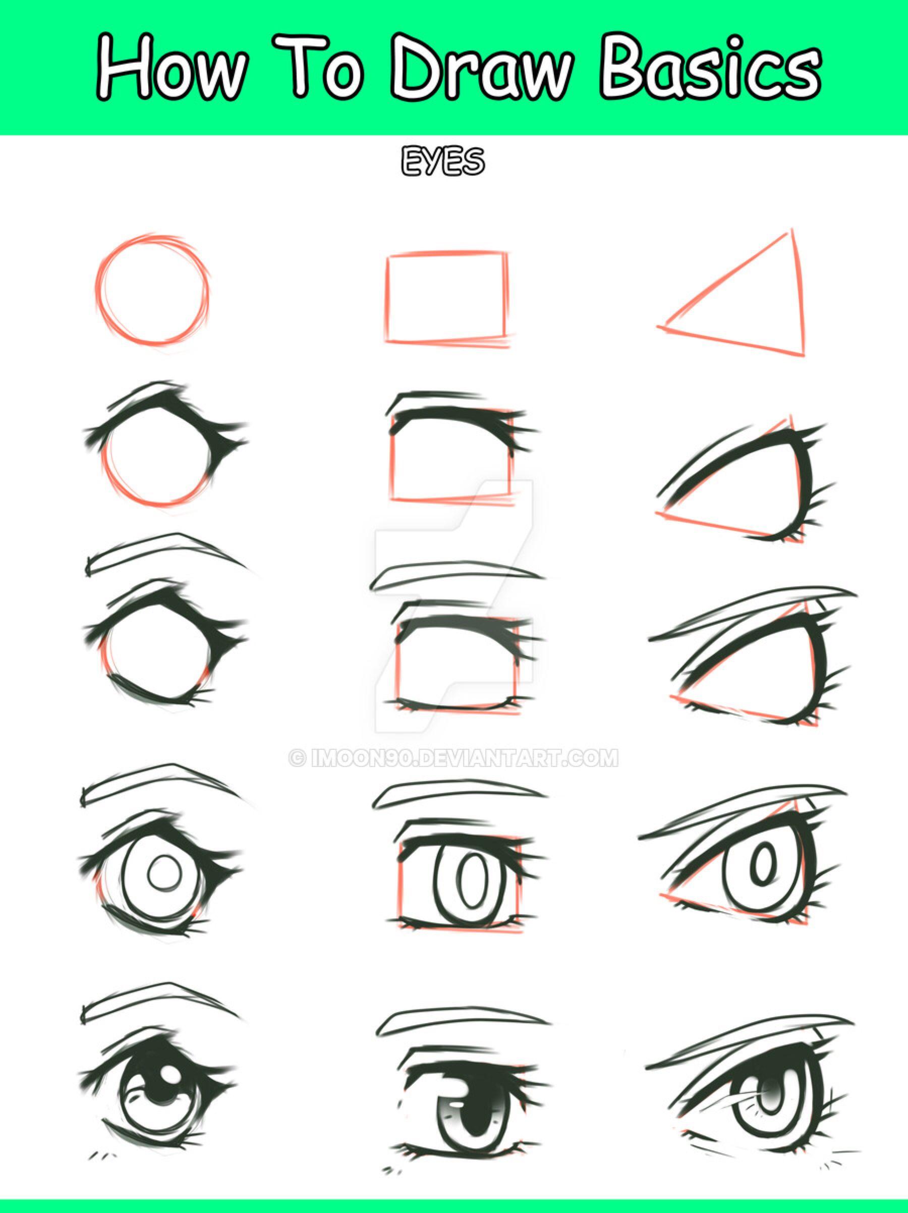 Basic Manga Eye Tutorial Manga Eyes Eye Tutorial Eye Drawing