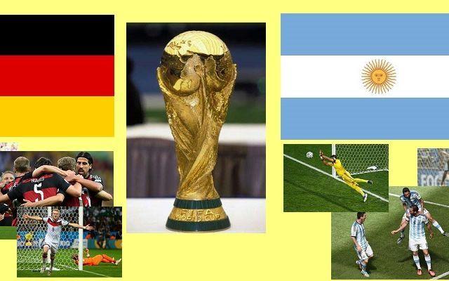 FINALE MONDIALE, DOPO 24 ANNI SARA' DI NUOVO GERMANIA-ARGENTINA #mondiali2014 #germania #argentina