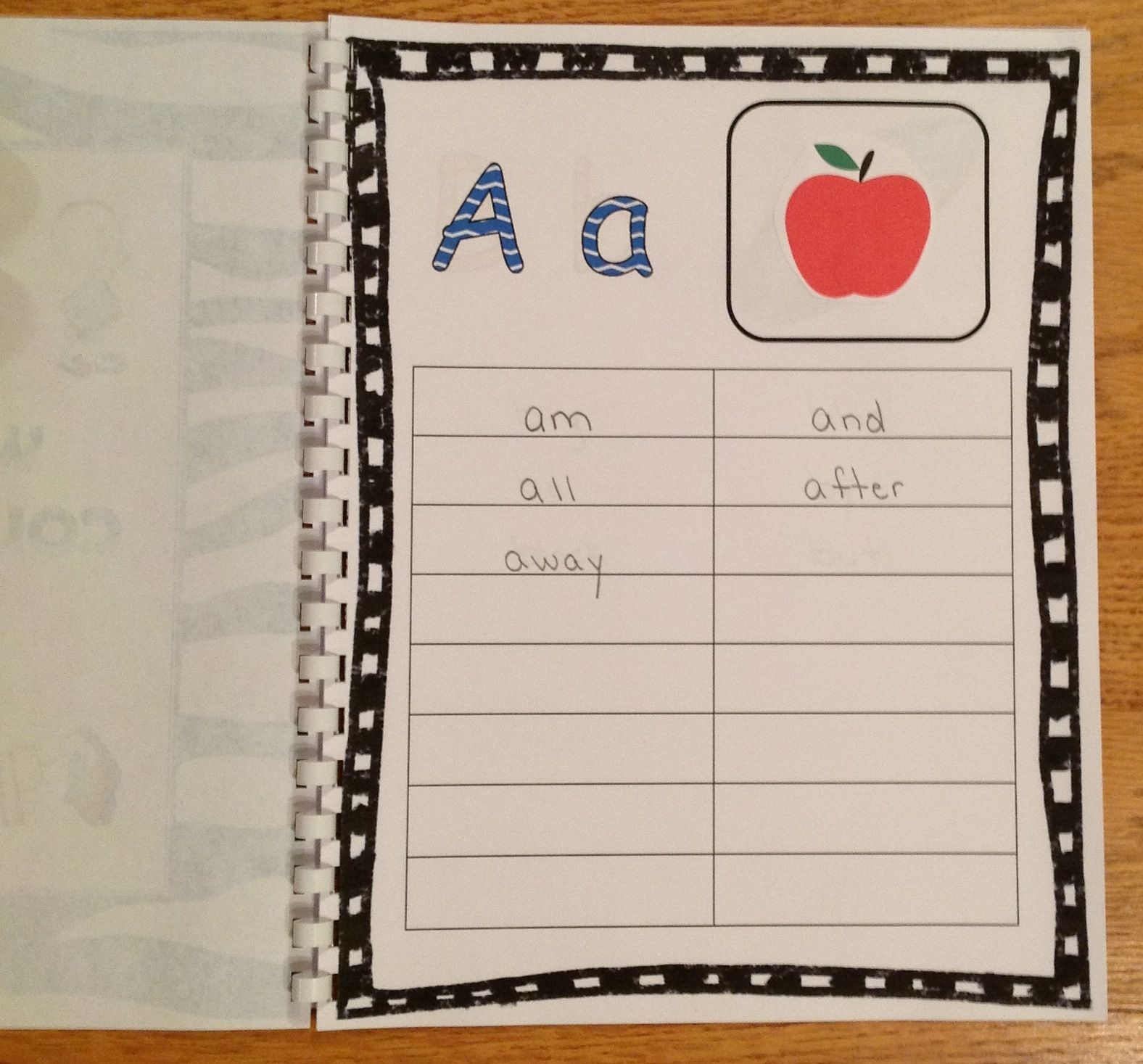 Need A Way For Kids To Organize Their Sight Words This Is A Great Personal Dictionary For