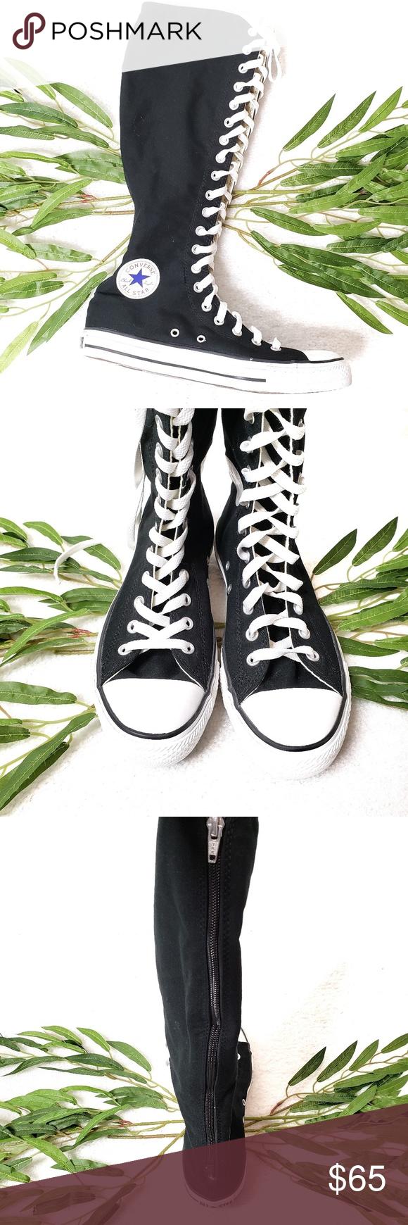 Converse Chuck Taylor Knee High Black Virtually new! Worn