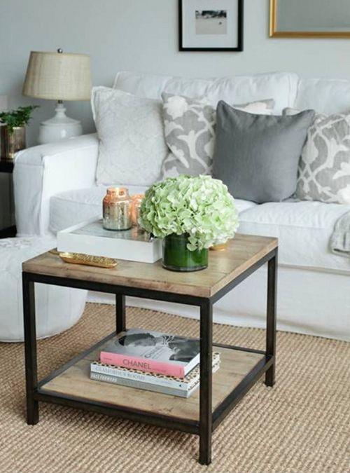 acquista online tavolini da salotto vintage legno e ferro ...