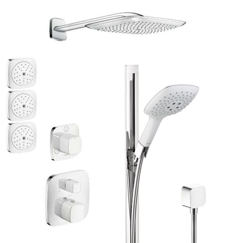 Hansgrohe HSS-PuraVida-T03 PuraVida Thermostatic Shower System with ...
