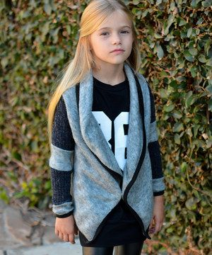 Another great find on #zulily! Gray Lapel Cardigan - Toddler & Girls by POP Couture #zulilyfinds