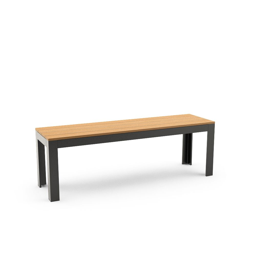 Ikea FALSTER Bench, Black, Brown Free 3d Model Download