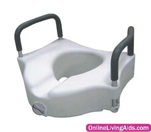 Drive Medical Rtl12027ra Elevated Raised Toilet Seat With