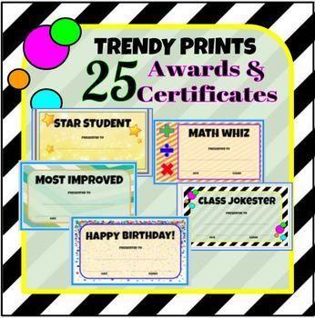 25 Trendy Printable Awards Certificates TpT Sharing Board