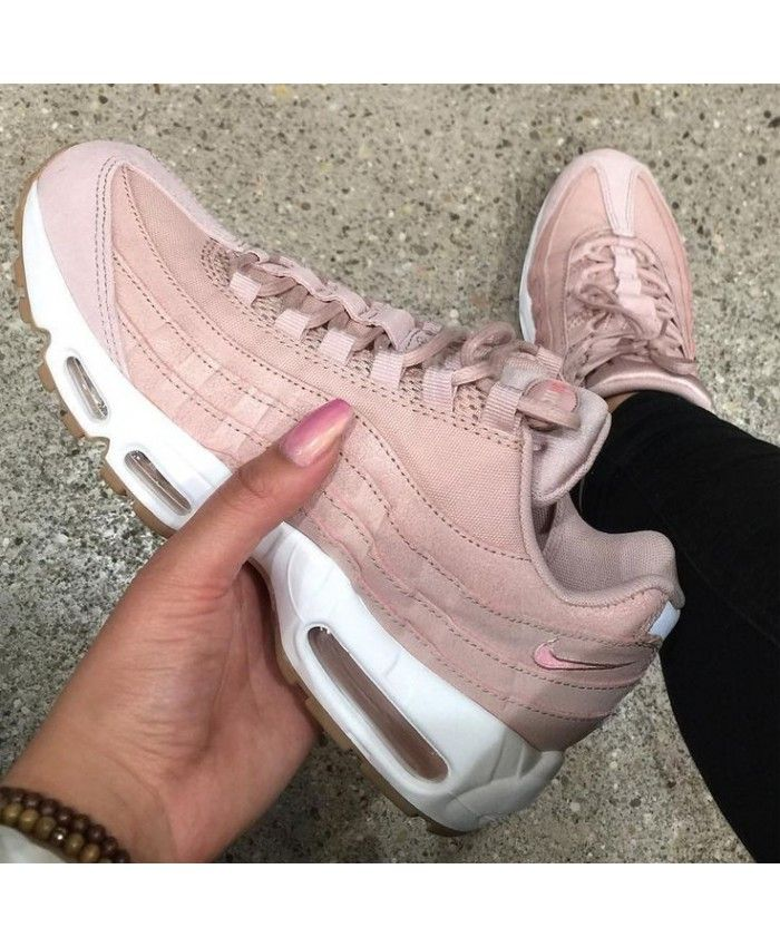 buy popular c5b65 56296 Chaussure Femme Nike Air Max 95 Ultra Essential Raw Rose Blanche