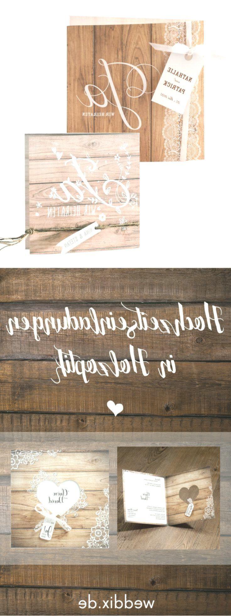Eine Einladungskarte Zur Hochzeit In Moderner Holzoptik Kombiniert Mit Accessoir Accessoir Einladungskarten Hochzeit Einladungskarten Einladungen