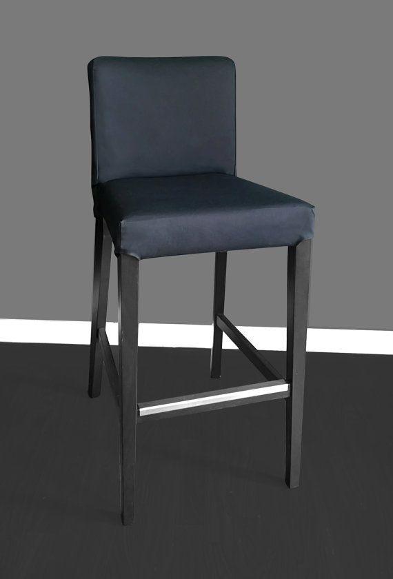 Ikea Henriksdal Bar Stool Chair Cover Solid Black Bar Stool