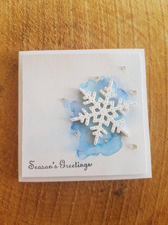 Ähnliche Artikel wie Weihnachten Karte und Umschlag-Set, 12 Karten, zeitgenössische Mini Aquarell, Modern, verschiedene Designs zur Verfügung auf Etsy