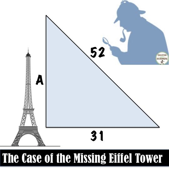 Pythagorean Theorem and Converse Math Detective Practice Activity - pythagorean theorem worksheet