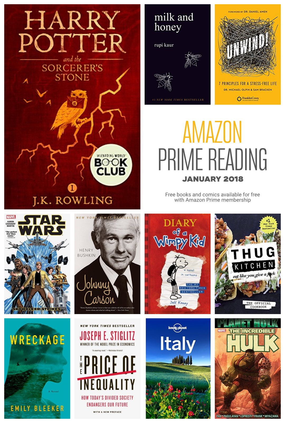 Amazon Prime Reading The 2018 List Of Free Books And Comics New Upcoming Movies Books You Should Read Great Books To Read