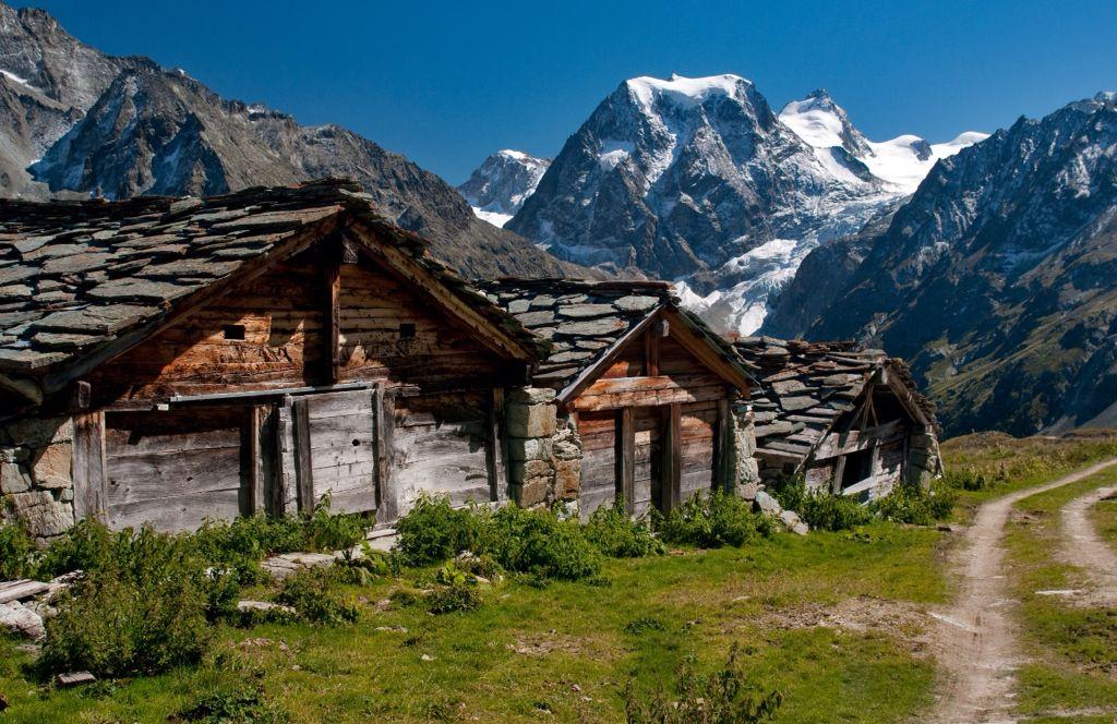 Swiss little hamlet