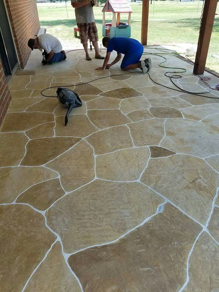 Flagstone Patio Concrete Overlay Stained Beautiful Flagstone Patio Concrete Decor Flagstone