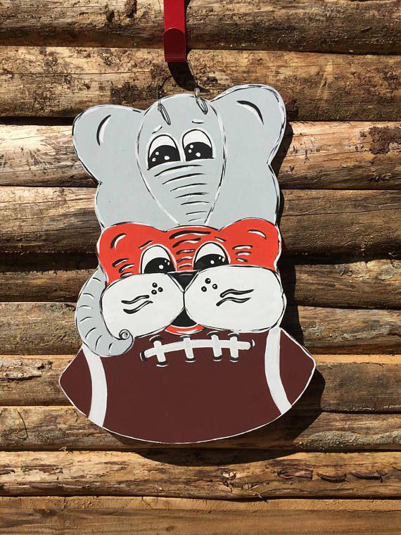 Auburn and Alabama House Divided - Door Decor - Football ...