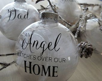 personalized memorial ornament memorial gift angel watches over us