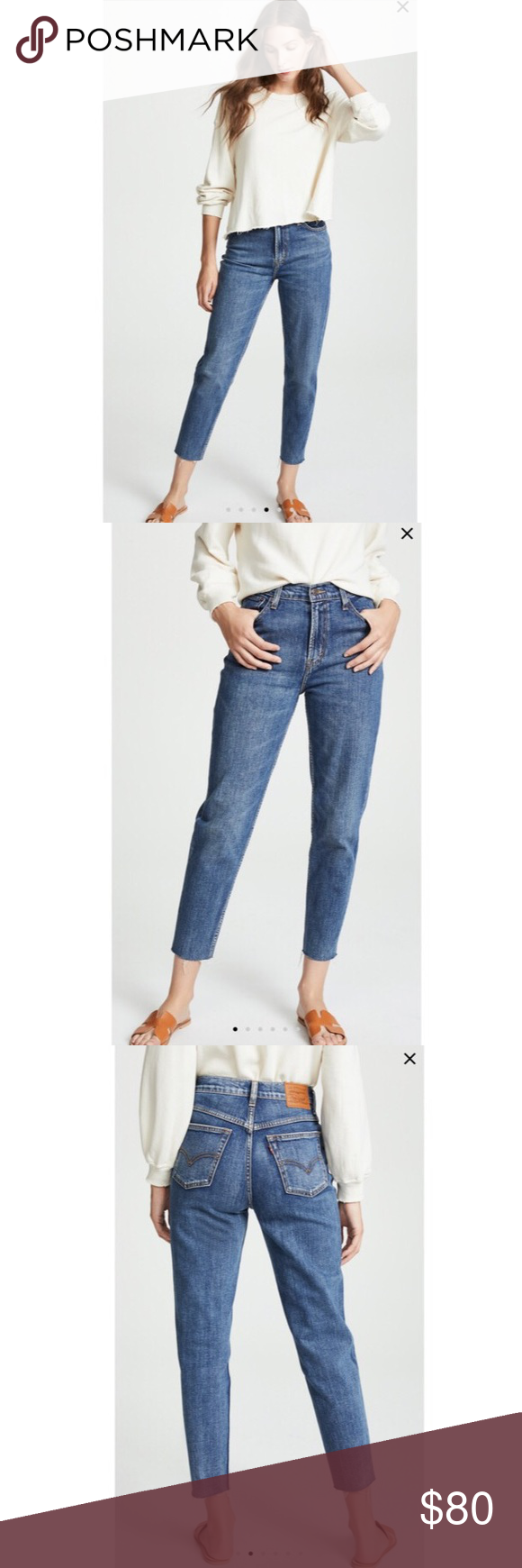 722f528d70a5f4 Levi's Mom Jeans Great condition Color: Mom's the Word From Free People Levi's  Jeans Ankle & Cropped