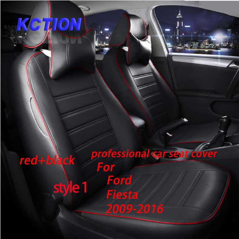 11 Colors Tailor Made Car Seat Cover For Ford Fiesta 2009 2016 Composite Pu Car Styling Fully Enveloped Accessori Car Seats Interior Accessories Carseat Cover