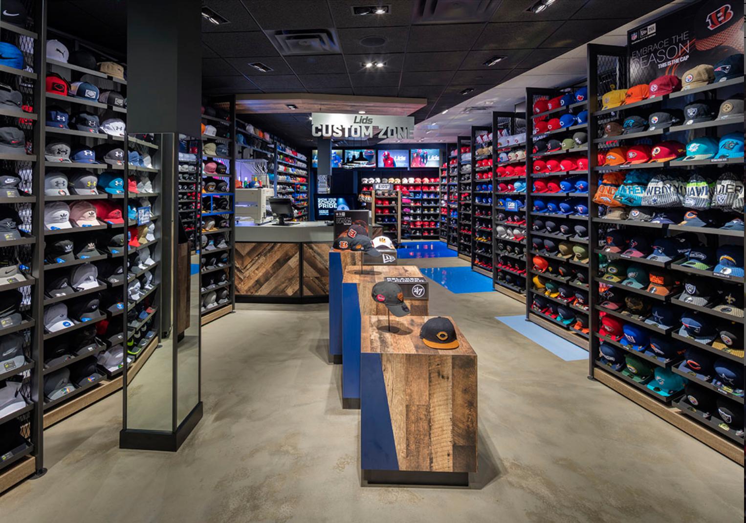 Lids Sports Group Retail Displays Sports Retail Display Retail Fixtures