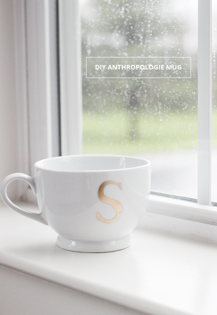 diy anthropologie monogram mug cladandclothcom 8 copy