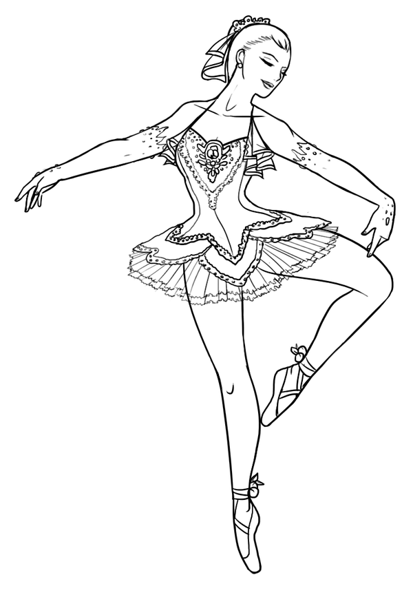 Ballerina Coloring Pages For Girls Coloring Pages Printable